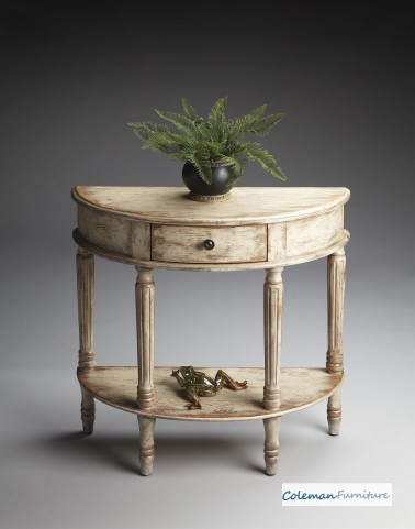 Chateau Gray Demilune Console Table