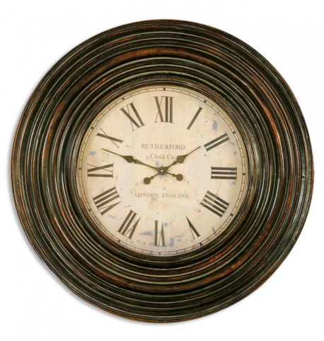 "Trudy 38"" Wooden Wall Clock"