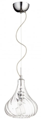 Winding Silver One Light Pendant