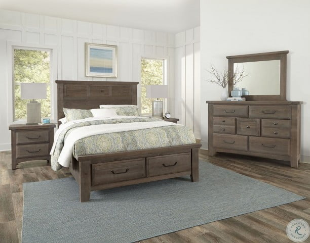 Admirable Sawmill Saddle Grey Louver Storage Bedroom Set Download Free Architecture Designs Grimeyleaguecom