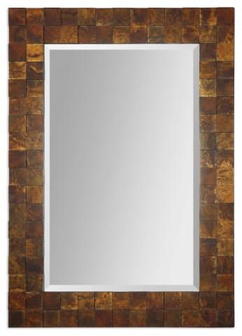Ambrosia Copper Mosaic Mirror