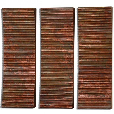 Adara Copper Wall Art Set of 3