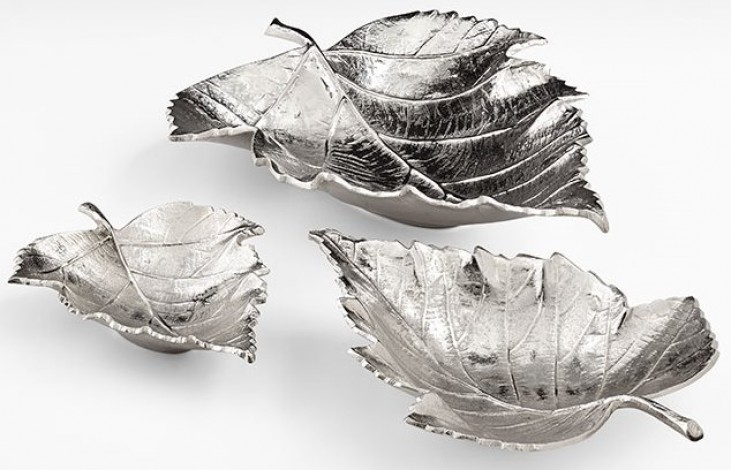 Maple Textured Nickel Large Tray