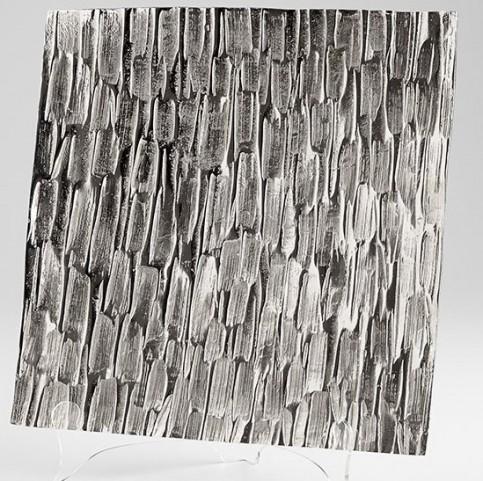 Cobblestone Textured Nickel Large Tray