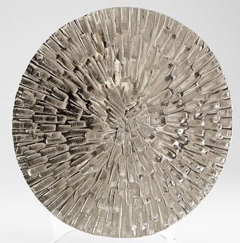 Flagstone Textured Nickel Large Tray