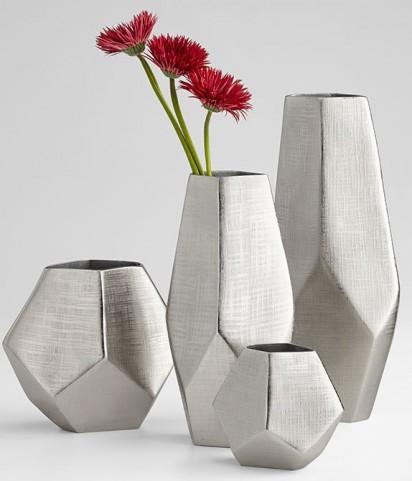 Vulcan Textured Nickel Small Vase