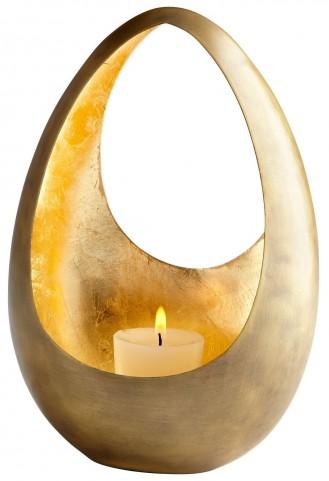 Ceres Golden Candleholder