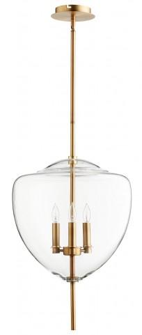 Ember Transparent Glass 3 Light Pendant