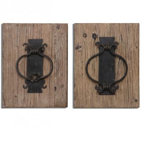 Rustic Door Knockers Wall Art Set of 2