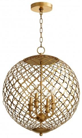 Skyros 4 Light Golden Pendant