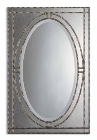 Earnestine Antique Silver Mirror