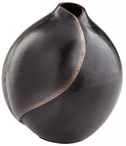 Large Bronze Copper Dimple Vase