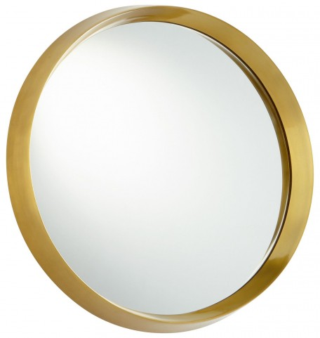 Satin Brass Glossy Boss Mirror