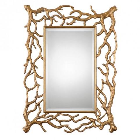 Sequoia Gold Tree Branch Mirror