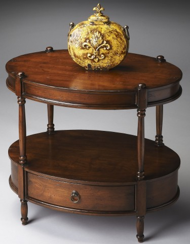 Masterpiece Madrid Brown Oval Accent Table