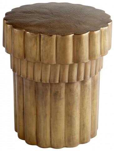 Mumbo Jumbo Brushed Brass Side Table