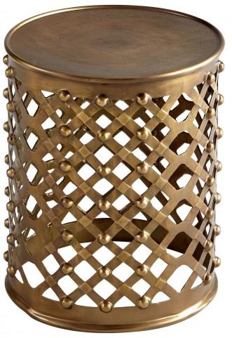 Alden Brushed Brass Side Table