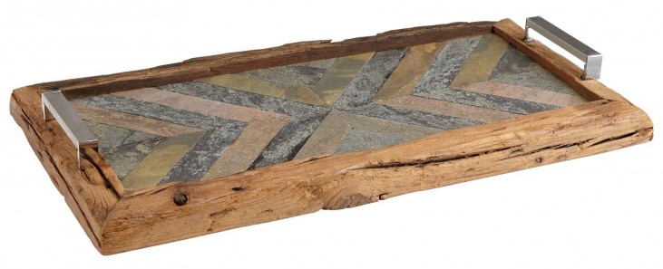 Worn Natural Rustic Welcome Tray