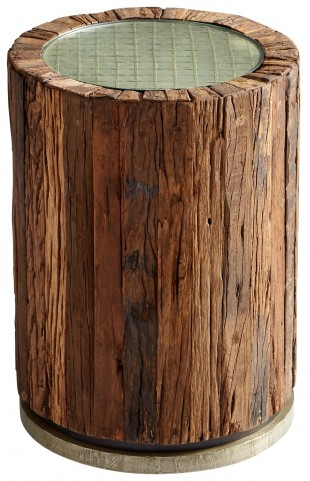 Up A Tree Natural Rustic Side Table