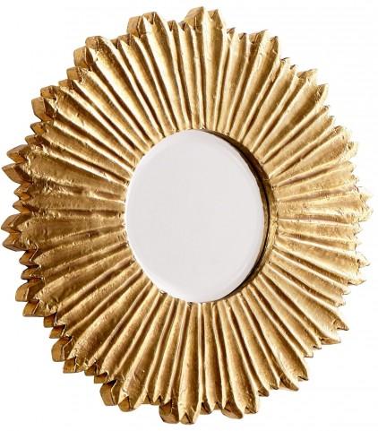 Starburst Brass Mirror