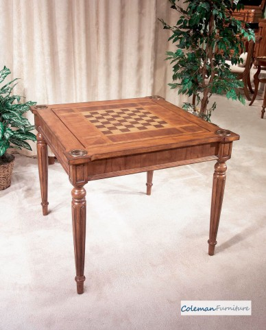 Masterpiece Antique Cherry Multi-Game Card Table