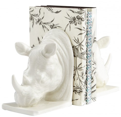 Rhino White Sculpture