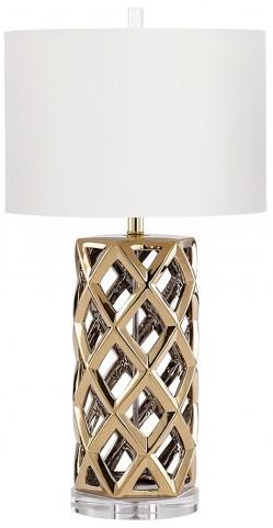 Baba Satin Brass Table Lamp
