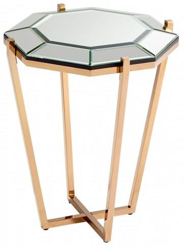 Elara Rose Gold Side Table