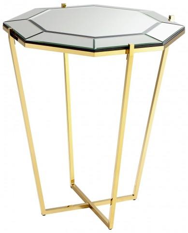 Elara Brass Foyer Table
