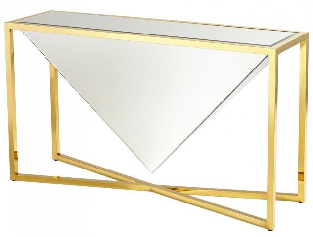 Titan Brass Console Table