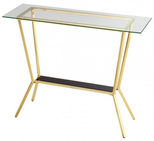 Arabella Brass Console Table