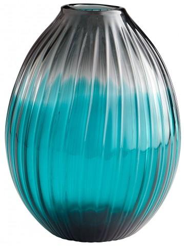 Serenity Clear Blue Teardrop Vase