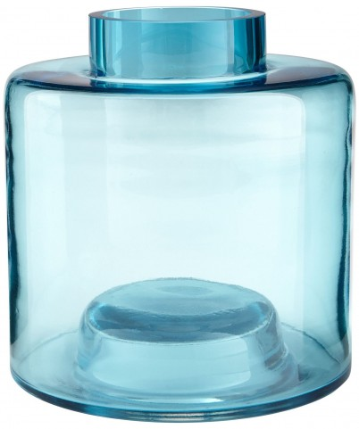 Large Blue Wishing Well Vase