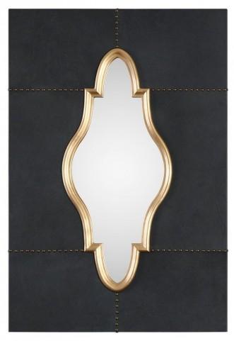 Kamal Black Leather Mirror