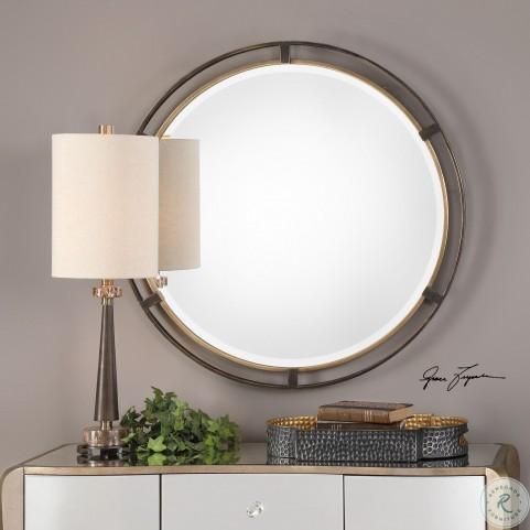 Carrizo Bronze Round Mirror