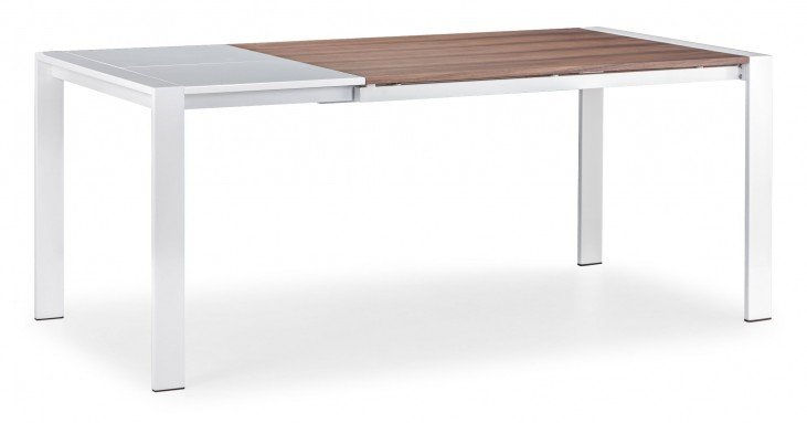 Oslo Walnut & White Extendable Dining Table