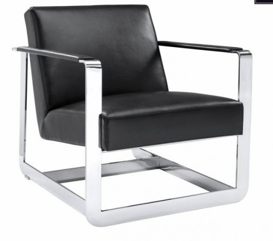Clevelander Black Leather Armchair