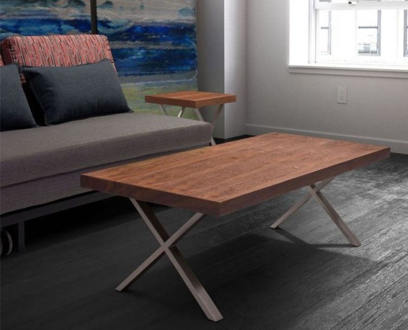 Renmen Walnut Occasional Table Set