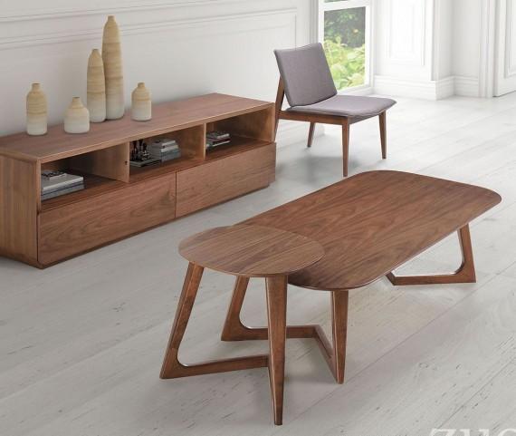 Park West Walnut Occasional Table Set