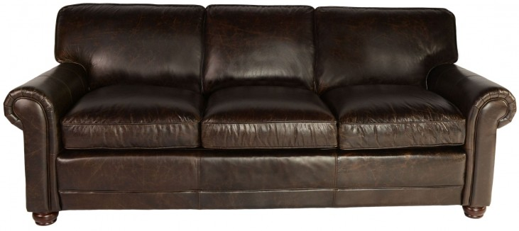 Genesis Brompton Chocolate Leather Sofa