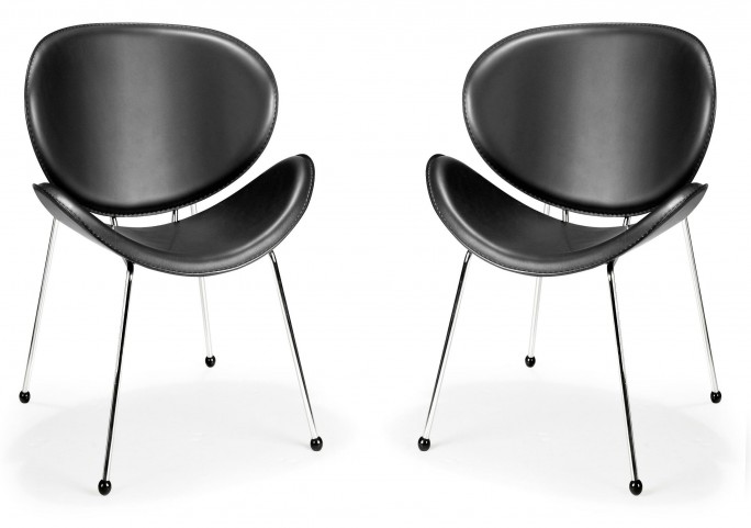 Match Lounge Chair Black Set of 2