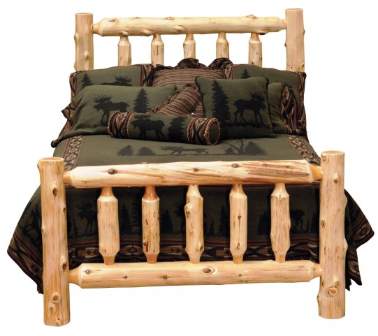 Cedar Queen Log Bed