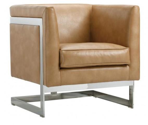 Soho Peanut Leather Armchair