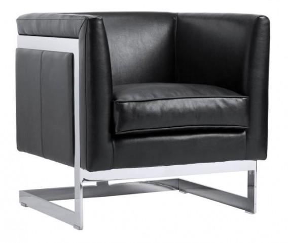 Soho Black Leather Armchair