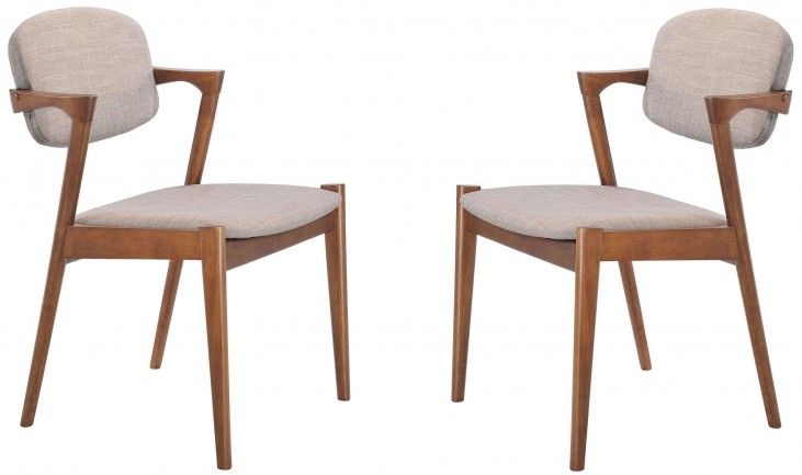 Brickell Dove Gray Dining Chair Set Of 2 From Zuo