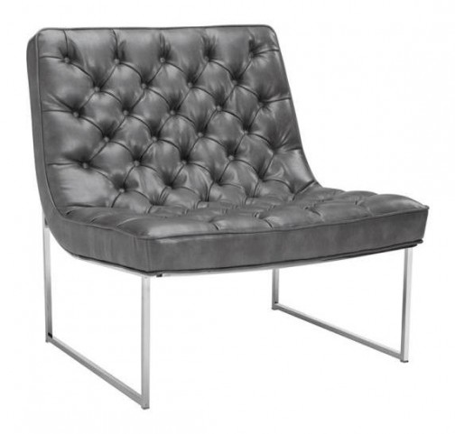 Toro Grey Leather Chair