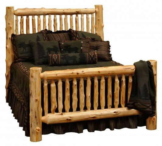 Cedar Queen Small Spindle Bed