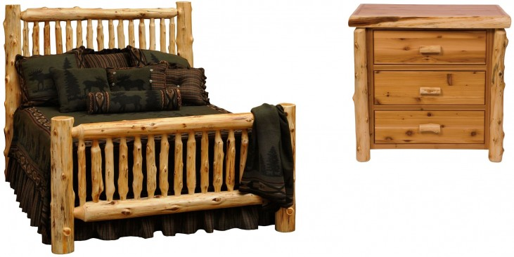 Traditional Cedar Small Spindle Bedroom Set