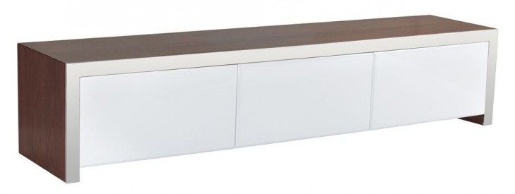 Lauderdale High Gloss White Media Stand