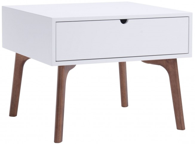 Padre Walnut & White Side Table
